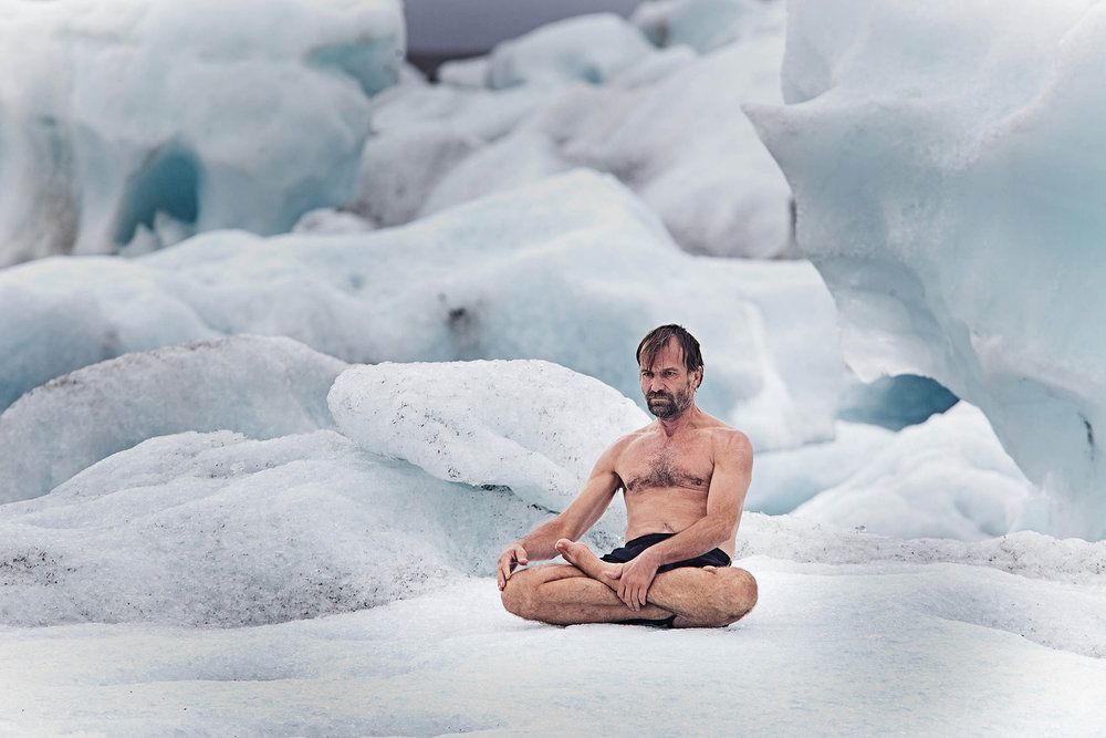 Wim Hof aka The Ice Man. Known to be able to withstand extreme cold by controlling his Autonomic Nervous System through a systematic approach to breathing.