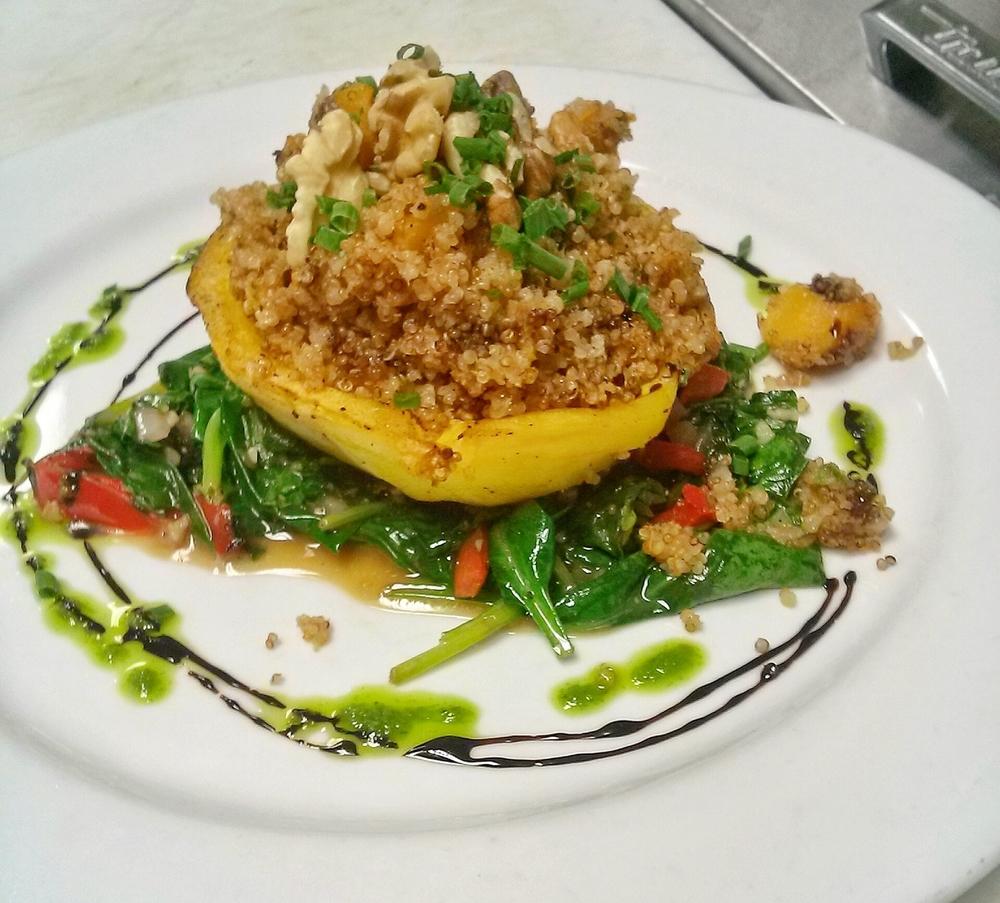 Our Quinoa-Stuffed Acorn Squash