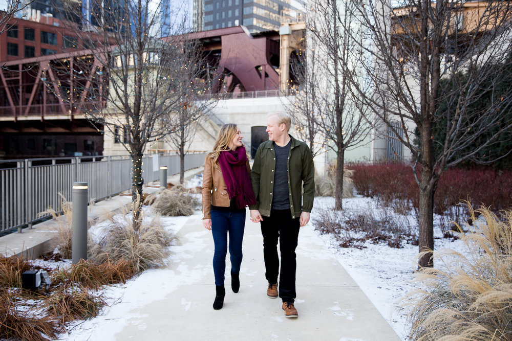 Winter Engagement Session in Downtown Chicago - Whit Meza PhotographyWinter Engagement Session in Chicago - Whit Meza Photography