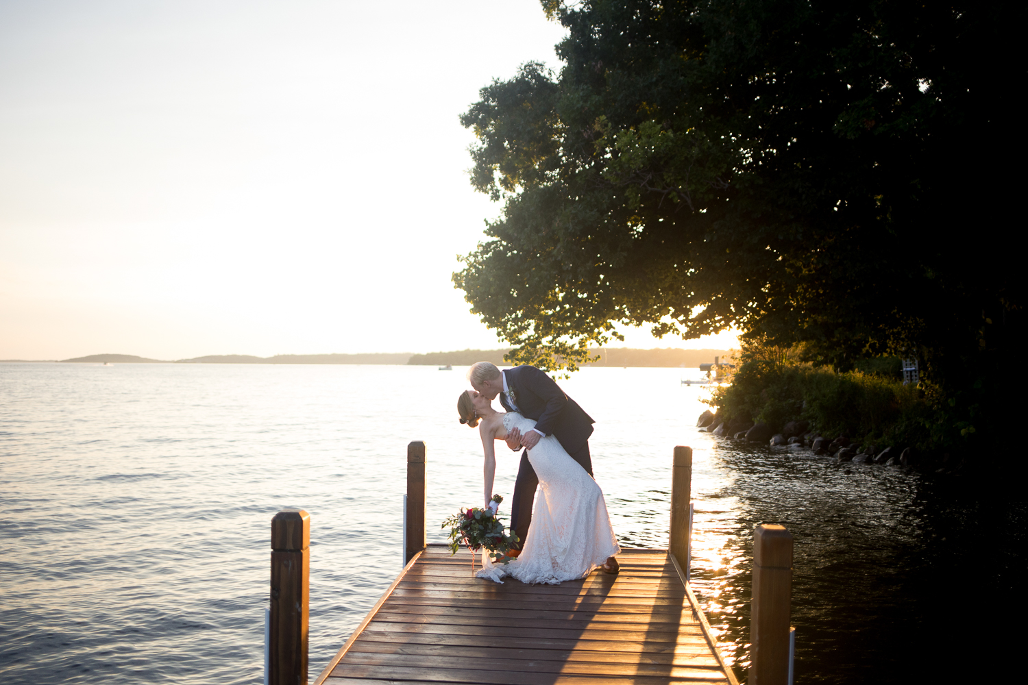 Lakeside Outdoor Tent Wedding at Heidel House Resort & Spa in Green
