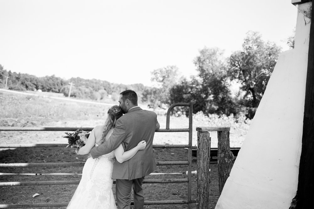 Red Mill Chapel and Backyard Tent Wedding in Wild Rose, Wisconsin - Whit Meza Photography