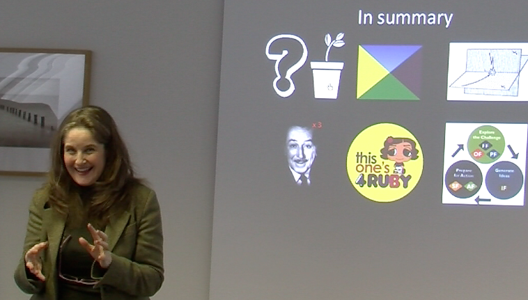 "Kate Hammer, ""Creativity in Business"" talk, London December 2013"