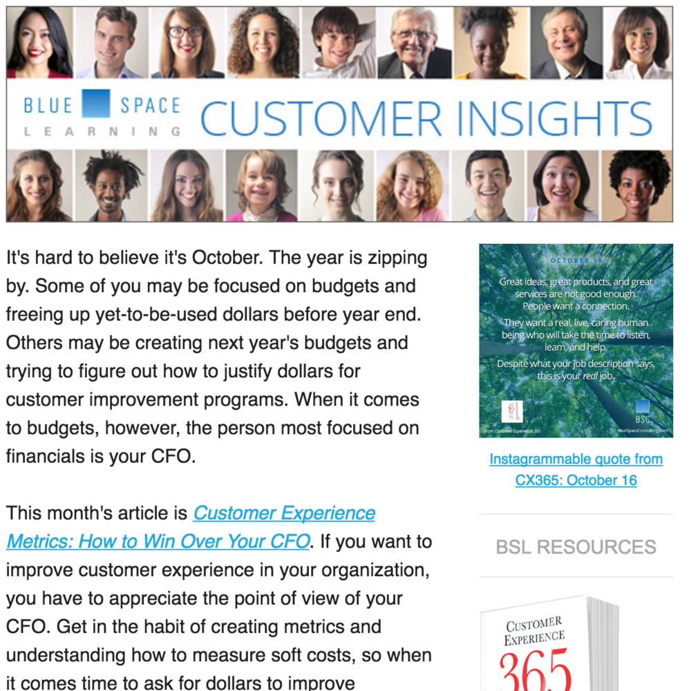 October Customer Insights Newsletter