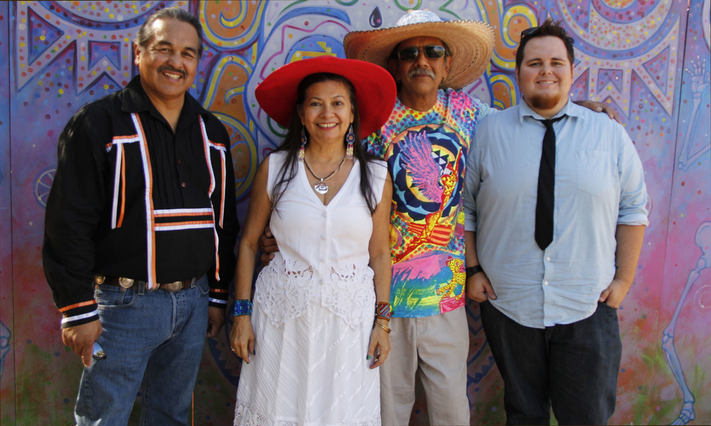 Pow Wow Pachanga is (L to R) Alex Maldonado,  Carmen Guerrero, Zarco Guerrero, & Nick Maldonado
