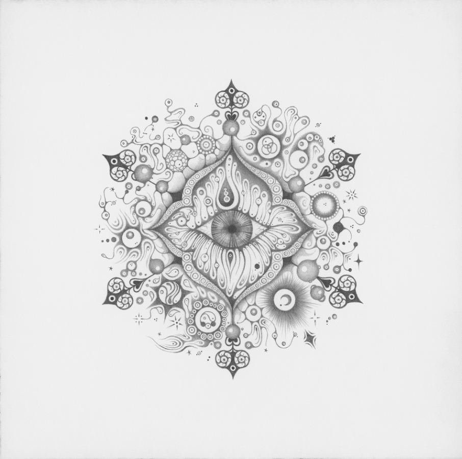 Snowflakes #122,   2014, hand-drawn graphite on paper, 11.75 x 11.75 inches, $1000 (framed).