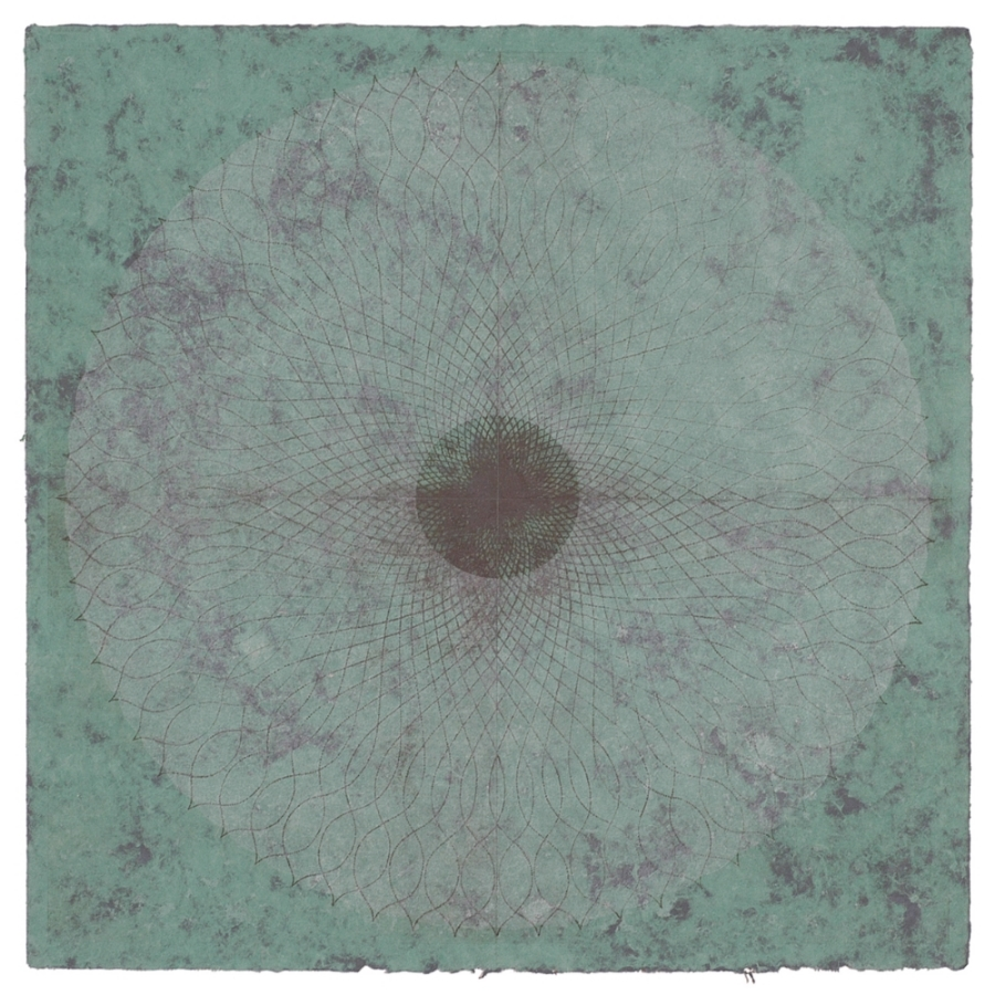 Rose Window Series #49,  lithography on hand-made paper, 48 x 48 inches, $5800. (unframed)