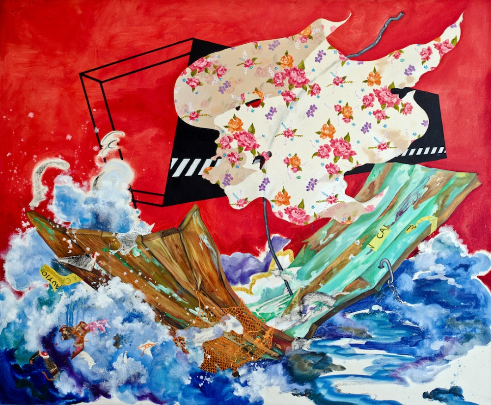 Voyage ,  2011, oil on canvas, 36 x 48 inches, $6000.