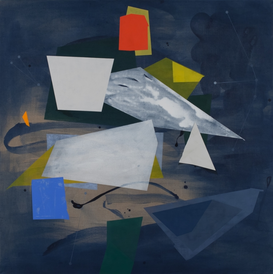 Orion,  2013, acrylic on linen, 44 x 44 inches, $6000.