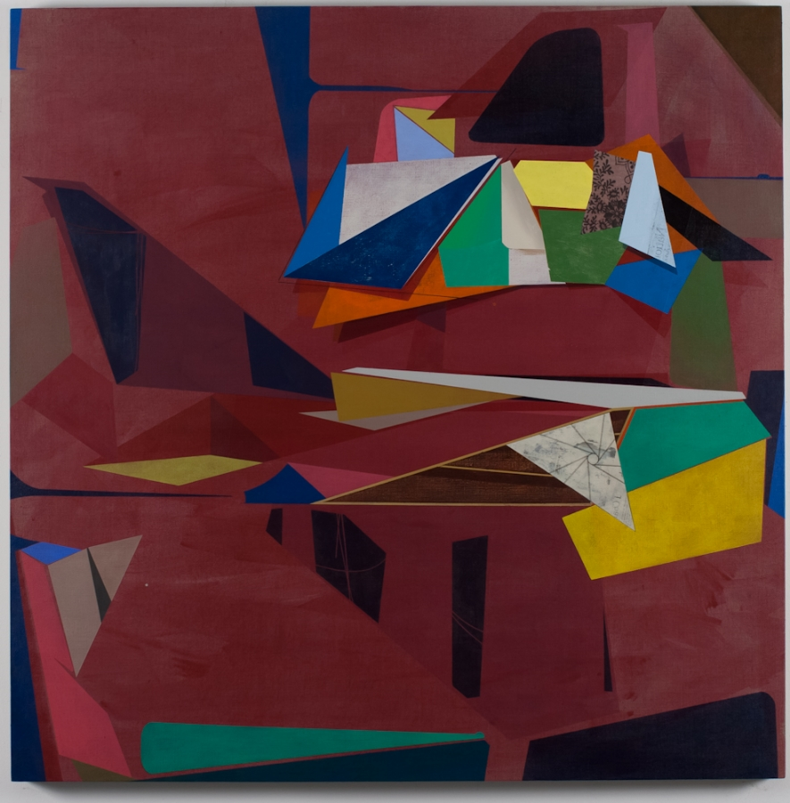 What We Bring With Us,  2012, acrylic on linen, 44 x 44 inches, $6000.
