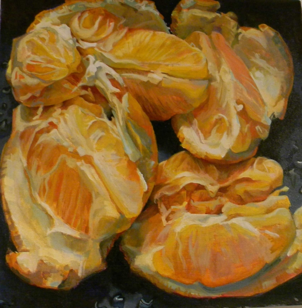 Citrus,  2010, oil on canvas, 20 x 20 inches, $3500.