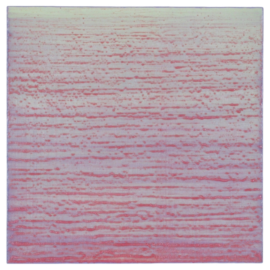 Silk Road 260 , 2015, encaustic (pigmented beeswax) on panel, 12 x 12 inches, $2400.
