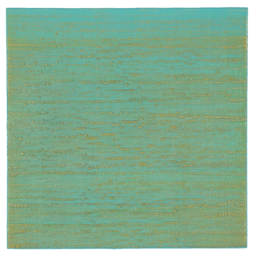 Silk Road 261 , 2015, encaustic (pigmented beeswax) on panel, 12 x 12 inches, $2400.
