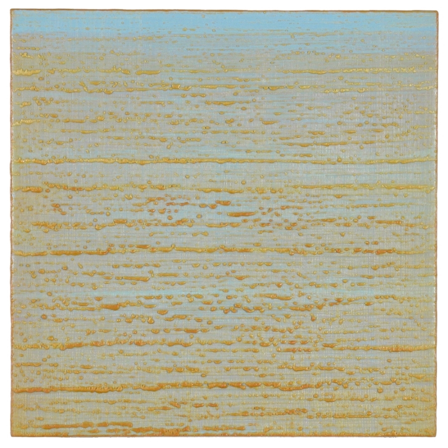 Silk Road 273 , 2015, encaustic (pigmented beeswax) on panel, 12 x 12 inches, $2400.