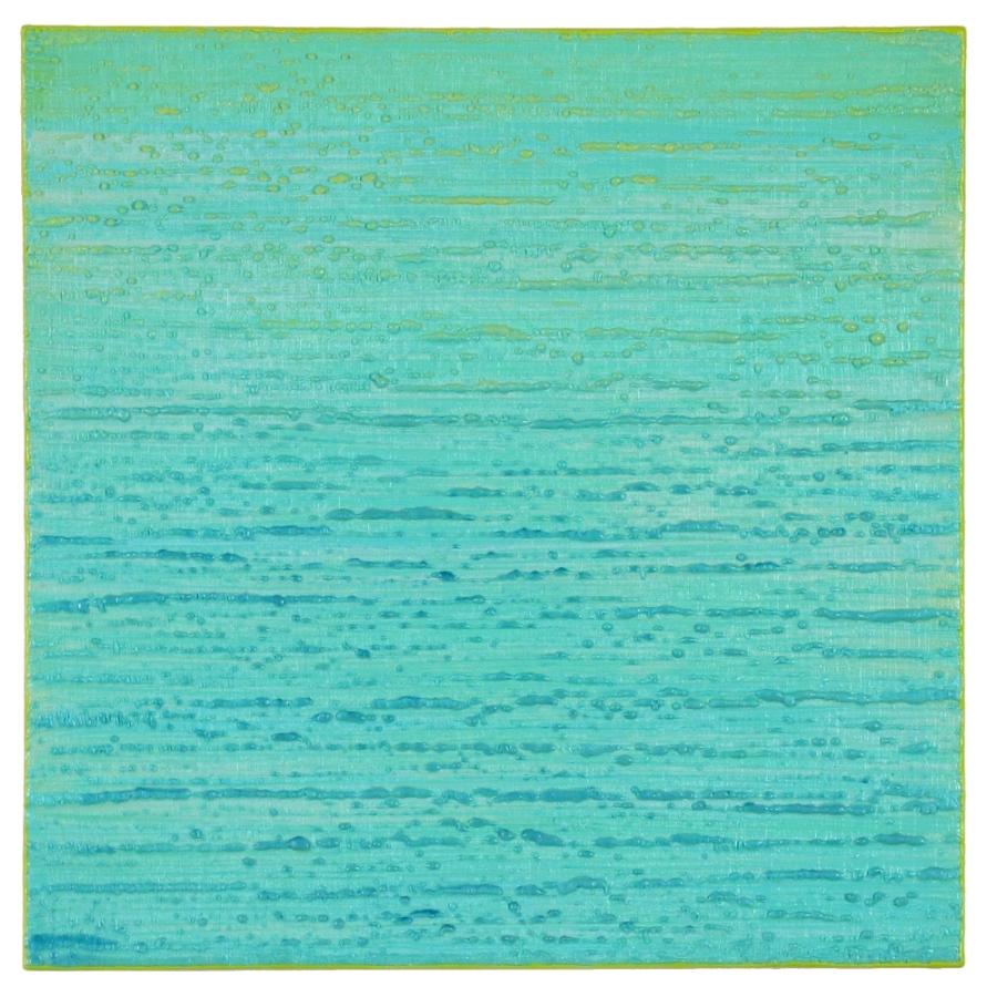 Silk Road 274 , 2015, encaustic (pigmented beeswax) on panel, 12 x 12 inches, $2400.