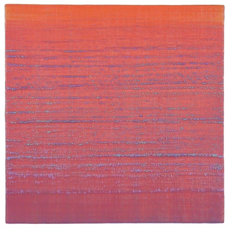 Silk Road 221 , 2015, encaustic (pigmented beeswax) on panel, 12 x 12 inches, $2400.