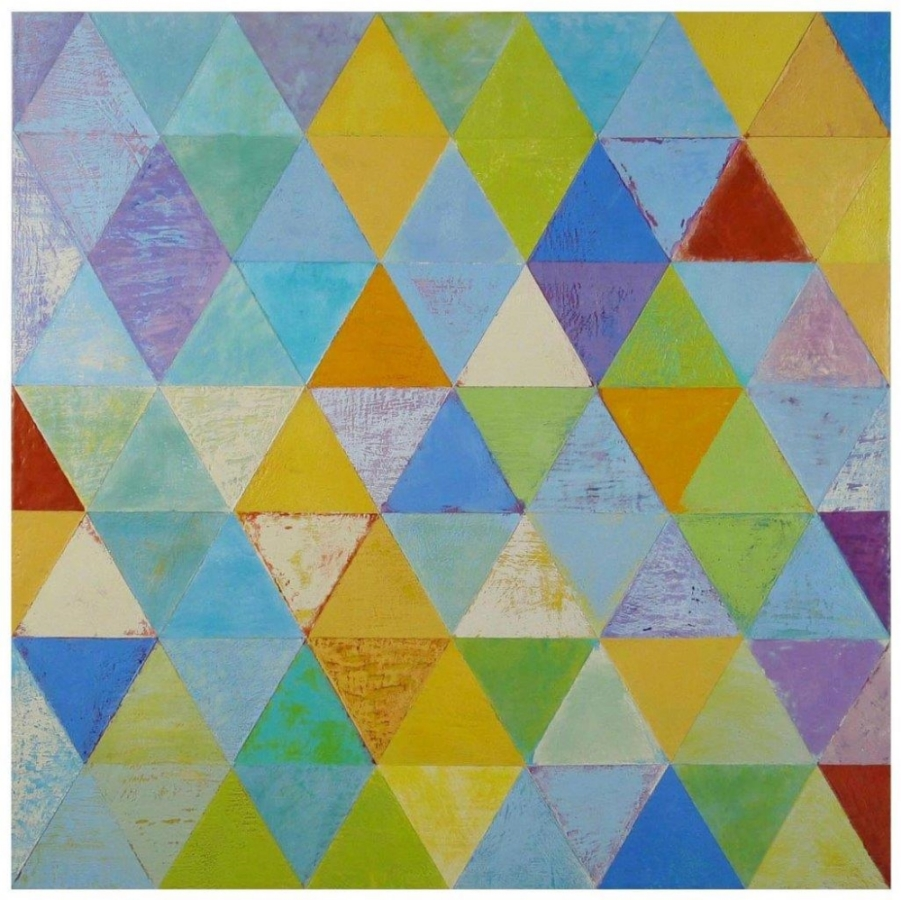 Rummu,  2011, encaustic (pigmented beeswax) on panel, 32 x 32 inches, $6800.