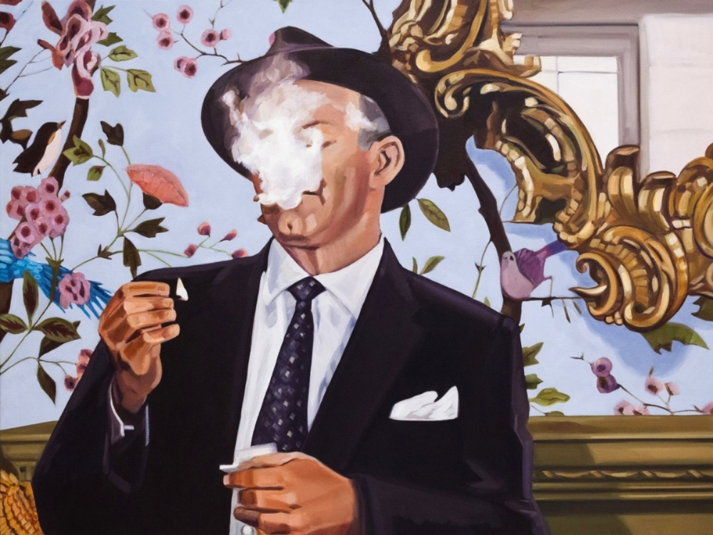 Smoke and Mirrors , 2013, oil on canvas, 26 x 34.5 inches, $3200.