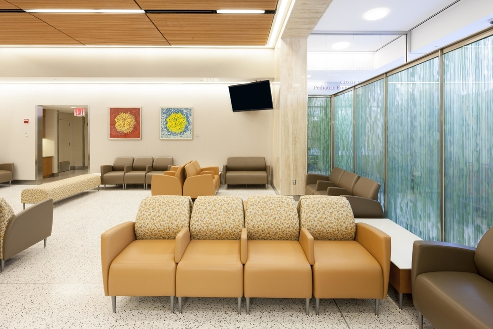 installation view, framed  Bloom Ball  woodcut prints, NYU Langone Medical Center