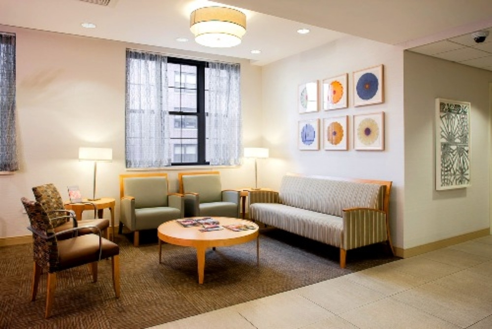 Installation view - pigment drawings, NYU/Langone Medical Center (with artwork by Margaret Lanzetta)