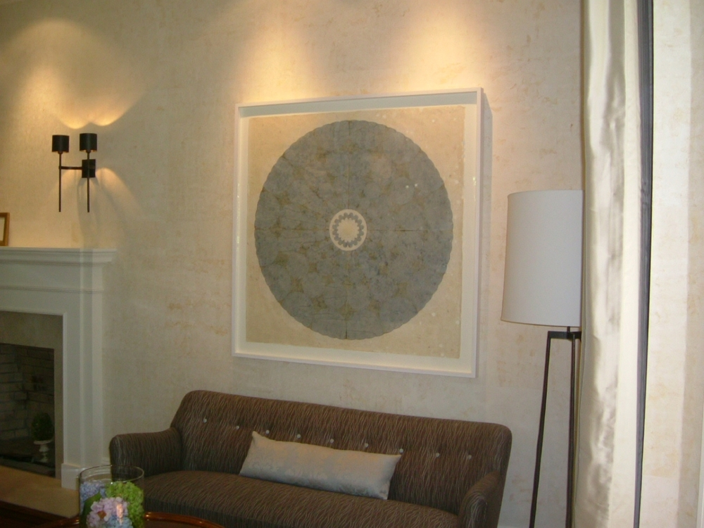 Installation view -  Rose Window  series, private home