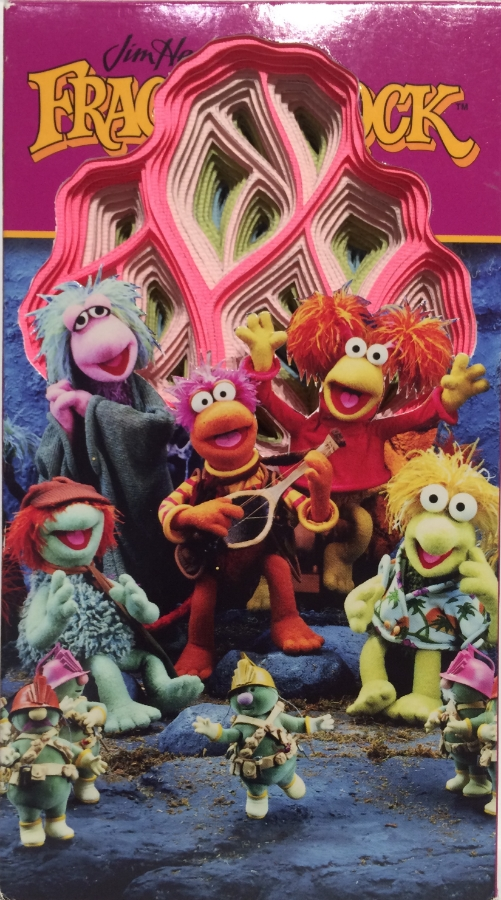 Fraggle Rock , 2015 hand-cut paper and VHS cover,   7.5 x 4.25 x 1, $200.