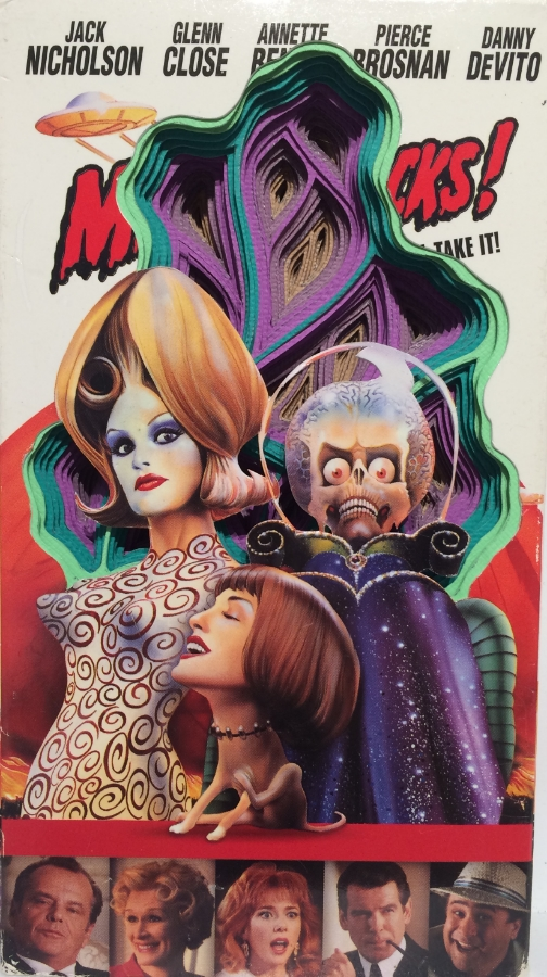 Mars Attacks! , 2015 hand-cut paper and VHS cover,   7.5 x 4.25 x 1, $200.