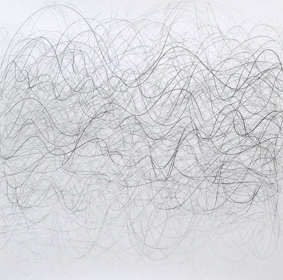 FORECASTER , 2014, graphite on paper, 44 x 44 inches, $1800. (unframed)