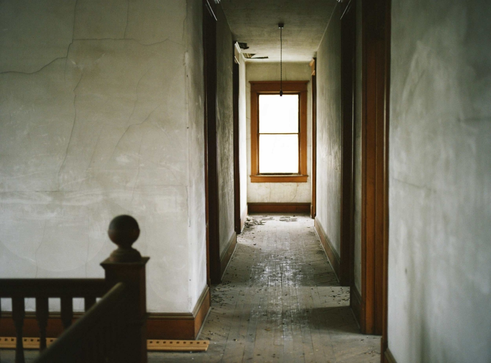 Hallway, Lennon Hotel, Liberty, New York , 2016, chromogenic print on Kodak matte paper, 26 x 36 inches, edition 1/20, $3000. (unframed), $3500. (framed)   Also available: 16 x 20 inches (unframed), $750. (unframed)