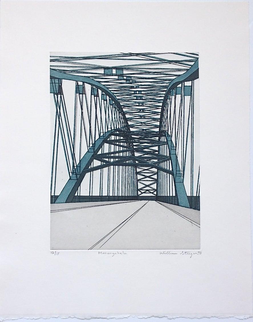 Monongahela , 1993, edition 12/15, etching and aquatint on paper, 19 x 15 inches (unframed), $1200. (unframed)