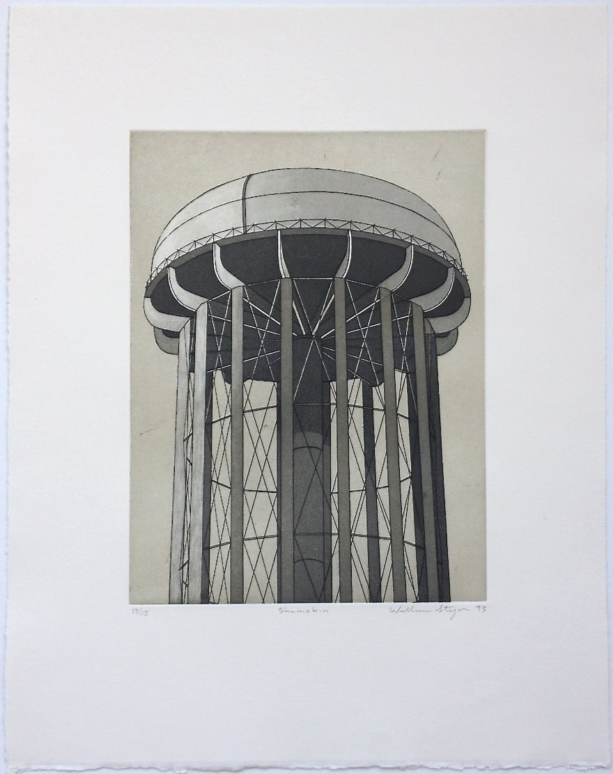 Shamokin , 1993, edition 13/15, etching and aquatint on paper, 19 x 15 inches (unframed), $1200. (unframed)