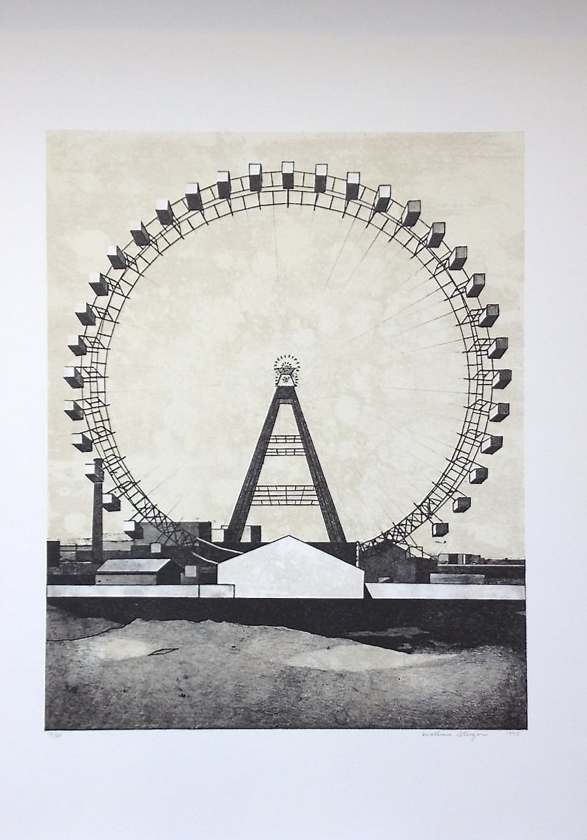 Wonderwheel , 2002, edition 15/30, etching and aquatint on paper, 26.5 x 22.5 inches (unframed), $1200. (unframed)