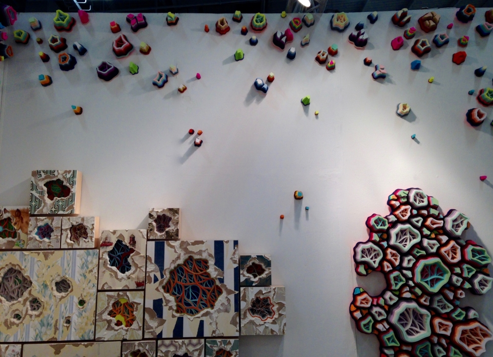 Installation at Art on Paper fair, March 2015