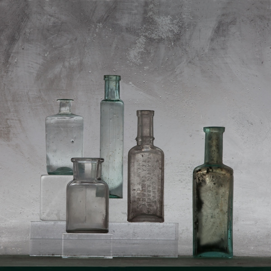 Small Bottles 22 , 2015, archival pigment print on Epson hot press bright paper, 32.50 x 32.50 inches (unframed), $3500. (unframed)