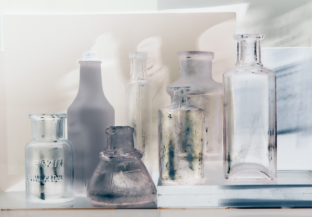 Small Bottles 24a invert , 2015, archival pigment print on Epson hot press bright paper, 26.5 x 38.38 inches (unframed), $3500. (unframed)