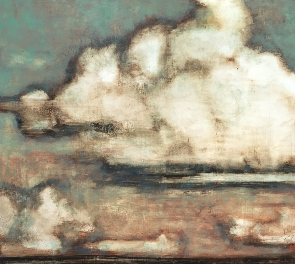 Clouds Over Greenport , 2015, oil on panel, 25 x 28 inches, $3800.