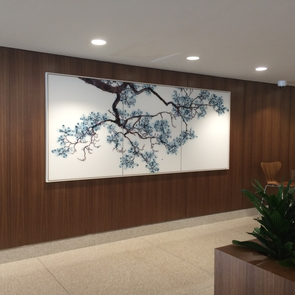Installation view, commission for Montefiore Medical Center, White Plains Hospital