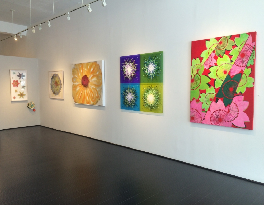 Installation view,  Sniff Kiss ,  Flower Power  exhibition 2016