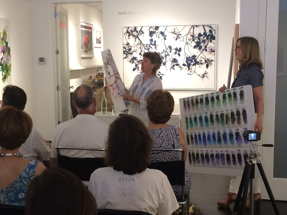 Gallery Talk  In Conversation: Artist Jackie Battenfield, and Mark Golden, CEO and co-founder of Golden Artist Colors  June 25, 2016   Kenise Barnes Fine Art  A gallery talk with artist,  Jackie Battenfield  and Mark Golden, CEO and co-founder of Golden Artist Colors.