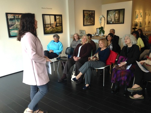 Gallery Talk Artist Talk with Marisa Scheinfeld March 31, 2016 Kenise Barnes Fine Art Scheinfeld gave an artist talk about her Borscht Belt series which was featured in the exhibition, PHOTO '16.