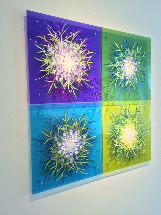Installation view,  Wildflower Foursome  by Cara Enteles