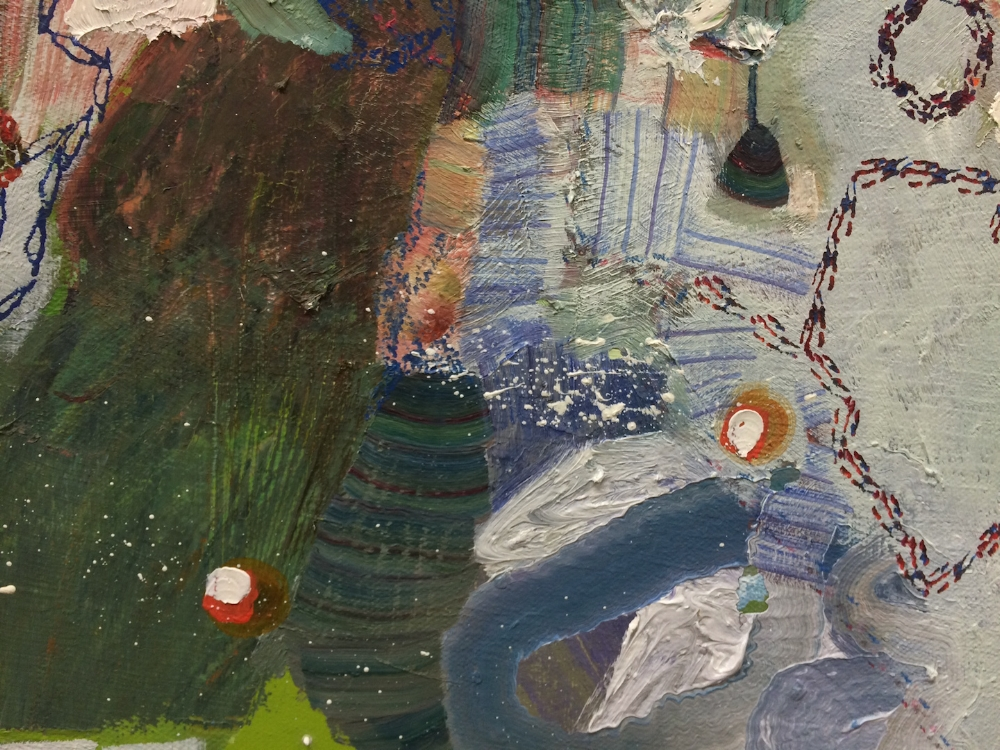 Jet Stream  (detail), 2015, oil on canvas, 36 x 48 inches, $6500.