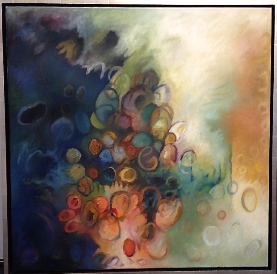 Circles 1 , 2010, oil on canvas, 36 x 36 inches, 38 x 38 inches (framed), $3600. (unframed), $4000. (framed)