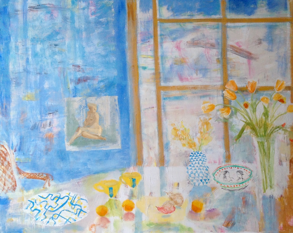 Paule's Table , 2015, oil on canvas, 48 x 60 inches, $8000.