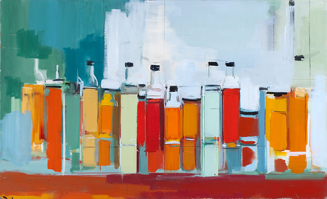 Peri Schwartz,  Bottles and Jars XXXV , 2014, 22 x 36 inches
