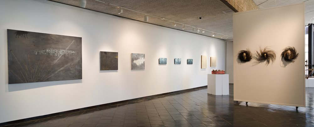 Installation view, (left to right) Patricia Miranda, Christine Aaron, Christian Nguyen, Michael Anthony Natiello