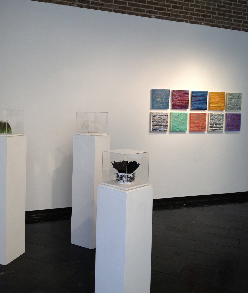 Installation view, Tricia Wright, Joanne Mattera