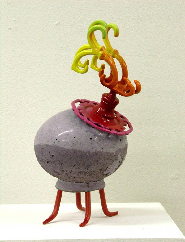 Don Porcano,  Avatar 25 , concrete, metal, paint, 12 x 6 x 6 inches