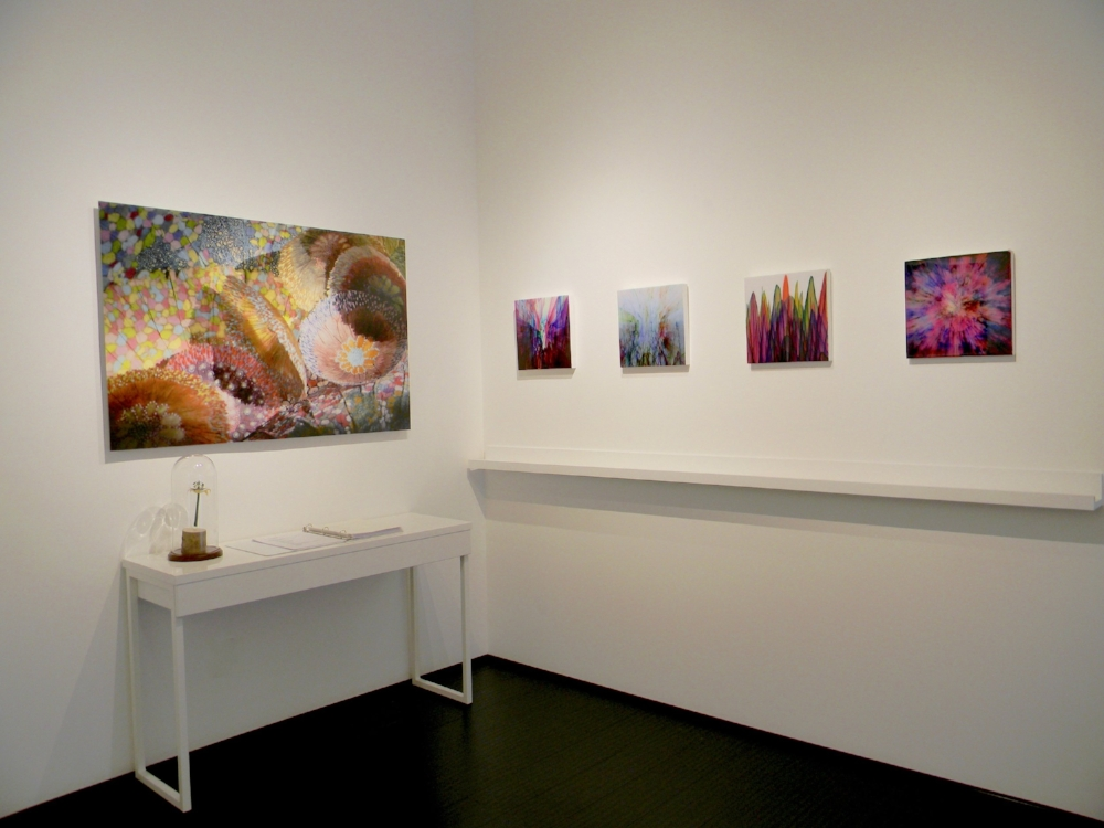 Installation view, Jill Parisi, David Licata, Shane McAdams