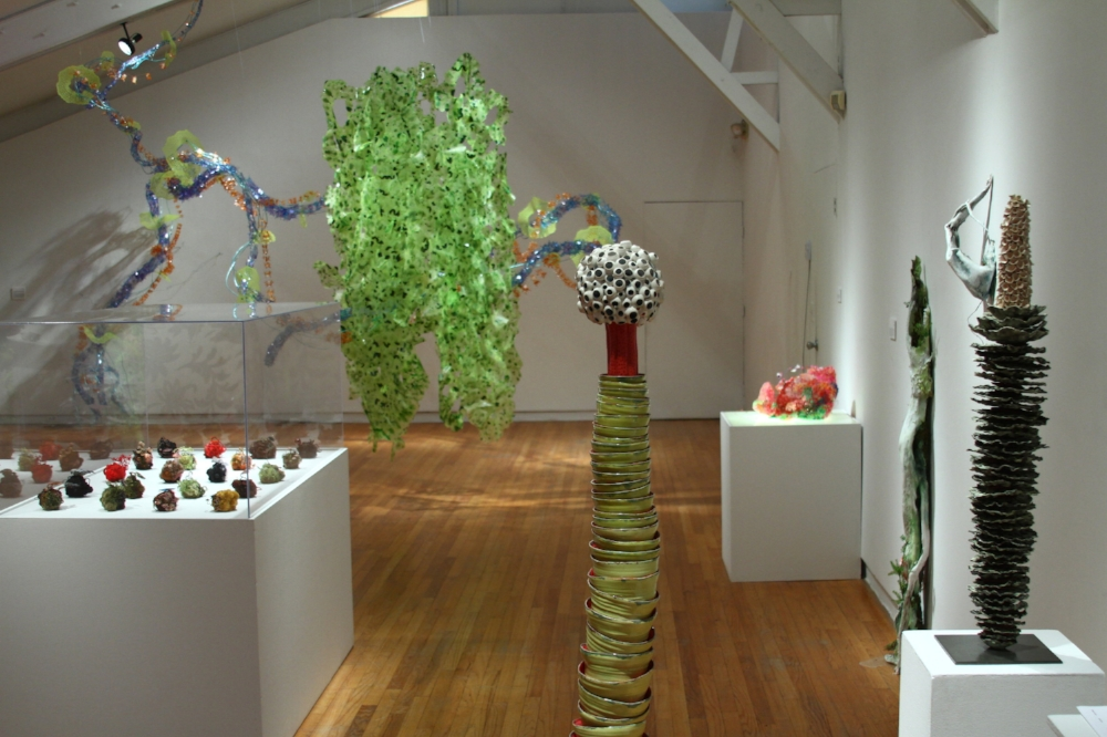 Installation view, (left to right) Amy Gross, Margie Neuhaus, Annie Varnot, Rachel Kohn, Leigh Taylor Mickelson