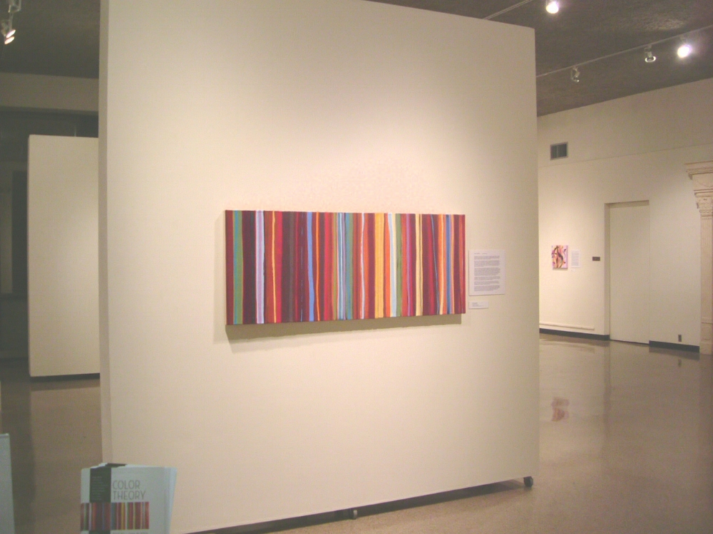 Joanne Mattera,  Uttar 269 , 2004, encaustic on panel, 24 x 60 inches